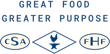 GREAT FOOD GREATER PURPOSE